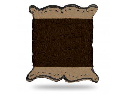 Keprovka tkaloun 1,2 cm, Balení 3 m, Tm. Čokoládová