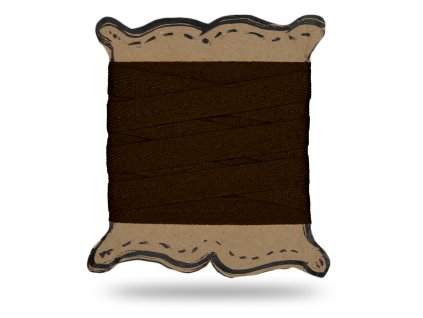 Keprovka tkaloun 1,2 cm, Balení 3 m, Tm. Hořká Čokoládová