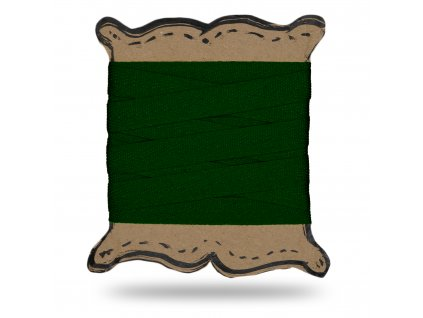 Keprovka tkaloun 1 cm,Balení 3 m,Tm. Zelená Výrazná