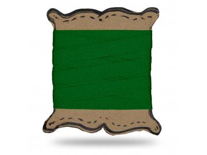 Plátěnka tkaloun 1,3 cm, Balení 3 m, Tm. Zelená