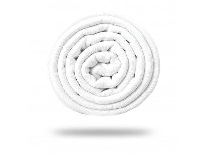 Oboustranné froté microvlákno 400 g, Bílá