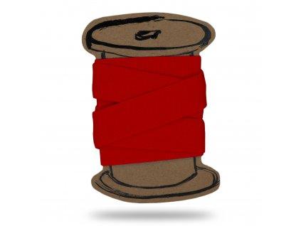 Pruženka hladká 2 cm, Balení po 3 m, Červená