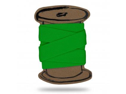 Pruženka hladká 2 cm, Balení 3 m, Zelená Sytá