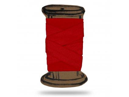 Lesklá lemovací pruženka 1,6 cm,Balení 3 m,Červená Výrazná