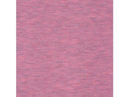 Teplákovina bavlněná nepočesaná 220 g, Růžová