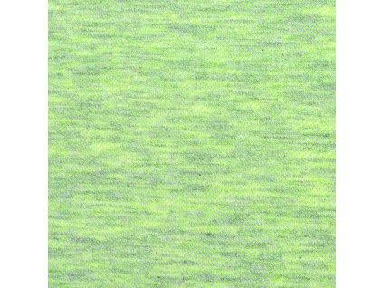 Teplákovina bavlněná nepočesaná 220 g, Žlutozelená
