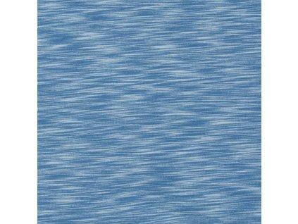 Teplákovina bavlněná počesaná 240 g, Žíhaná Modrá