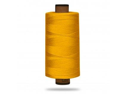Nit polyesterová Belfil S 1000 m,121,Žlutá Sytá