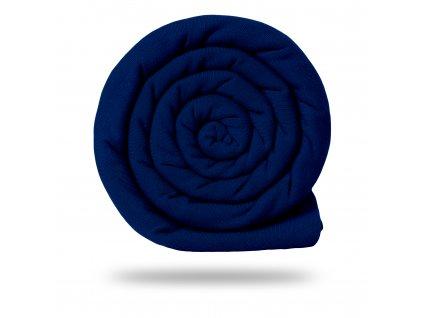 Úplet bavlněný 215 g, Tm. Modrá Klasická