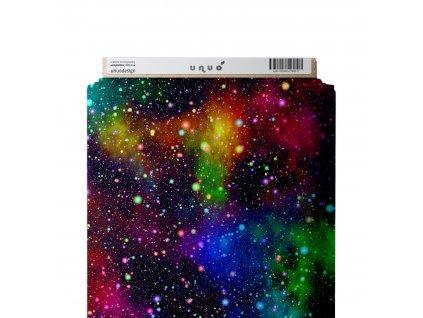 Unuo tisk, Softshell zimní s fleecem pružný 18/12, Barevný vesmír, Tm. Modročerná