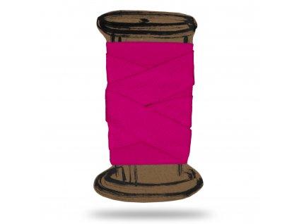 Lesklá lemovací pruženka 1,8 cm, Balení 3 m, Růžová Pastelová