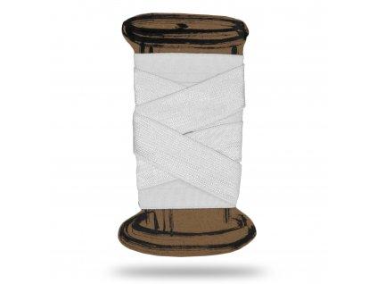 Lesklá lemovací pruženka 1,8 cm, Balení 3 m, Bílá