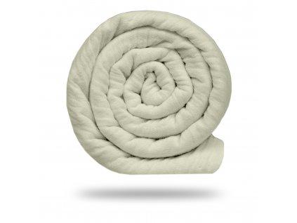 Mušelín bambusový s bavlnou 130 g, Smetanová