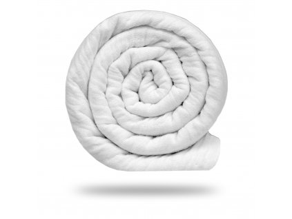 Mušelín bambusový s bavlnou 130 g, Bílá