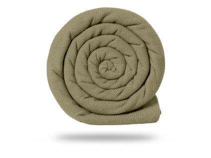 Pletenina bavlněná se lnem 170 g, Sv. Moka