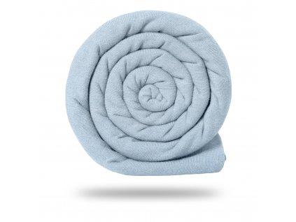Úplet bavlněný 215 g, Sv. Modrá Jemná Melír