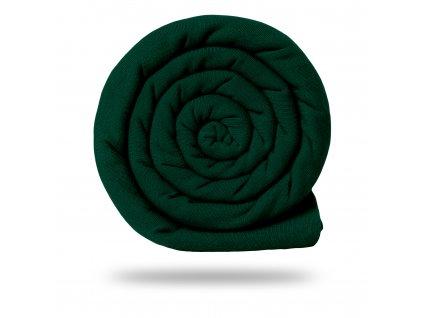 Úplet bavlněný 215 g, Tm. Zelená Lahvová