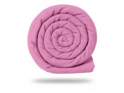 Úplet bavlněný 215 g, Růžová Baby