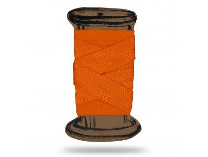 Lesklá lemovací pruženka 1,8 cm,Balení 3 m,Oranžová Svítivá