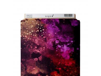 Unuo tisk, Softshell zimní s fleecem pružný 18/12, Tmavý vesmír, Tm. Vínová Temná