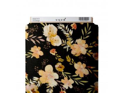 Mušelín bavlněný, Přírodní květy, Černá