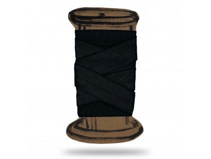 Lesklá lemovací pruženka 1,8 cm, Balení 3 m, Černá
