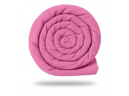 Úplet bavlněný 210 g, Růžová