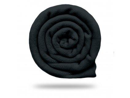 Kojenecký plyš bavlněný 250 g, Černá