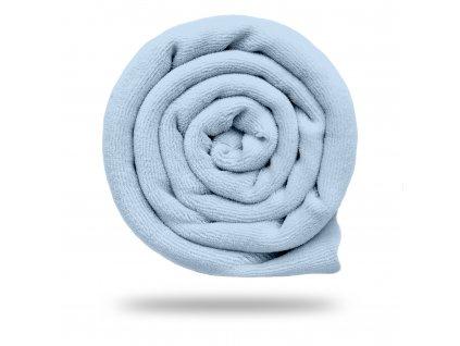 Kojenecký plyš bavlněný 250 g, Sv. Modrá Jemná
