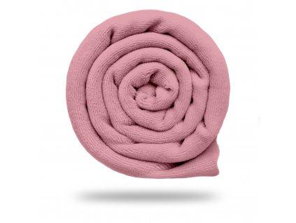 Kojenecký plyš bavlněný 250 g, Růžová Pudrová