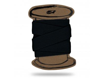 Pruženka prádlová hladká 0,5 cm, Balení 3 m, Černá