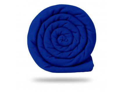 Teplákovina bavlněná nepočesaná 245 g, Tm. Modrá Královská