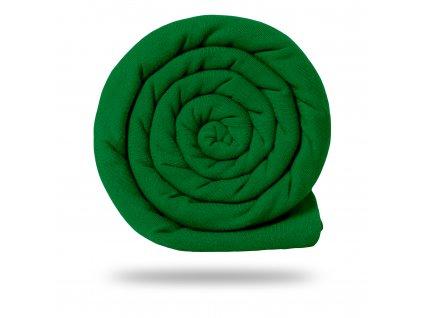 Teplákovina bavlněná nepočesaná 290 g, Tm. Zelená