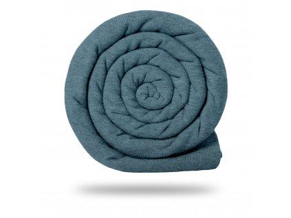 Teplákovina bavlněná nepočesaná 290 g, Sv. Modrošedá Melír