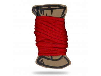 Šňůra polyesterová 0,4 cm,Balení 3 m,Červená Výrazná