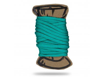 Šňůra polyesterová 0,4 cm, Balení 3 m, Sv. Smaragdová
