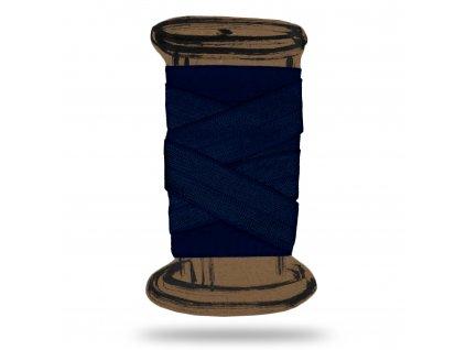 Lesklá lemovací pruženka 1,8 cm Balení 3 m, Tm. modrá kobaltová