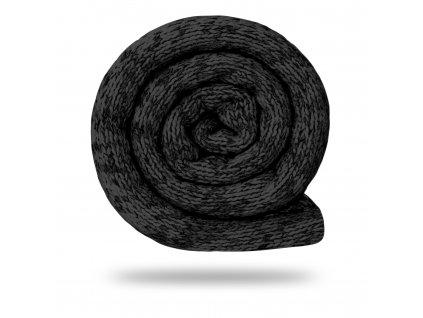 Svetrovina fleecová 280 g, Melír, Černá se šedou