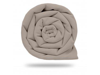 Plátno bavlněné elastické 235 g, Sv. Šedá Teplá