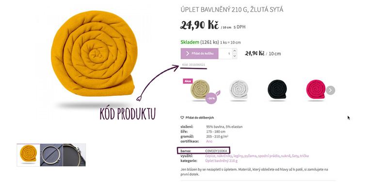 Kód produktu