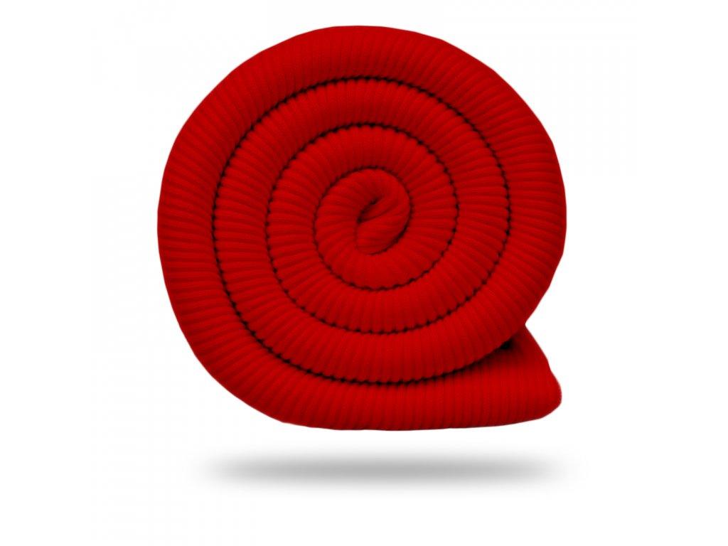 Bavlnený náplet rebrovaný / RIB 430 g, Červená