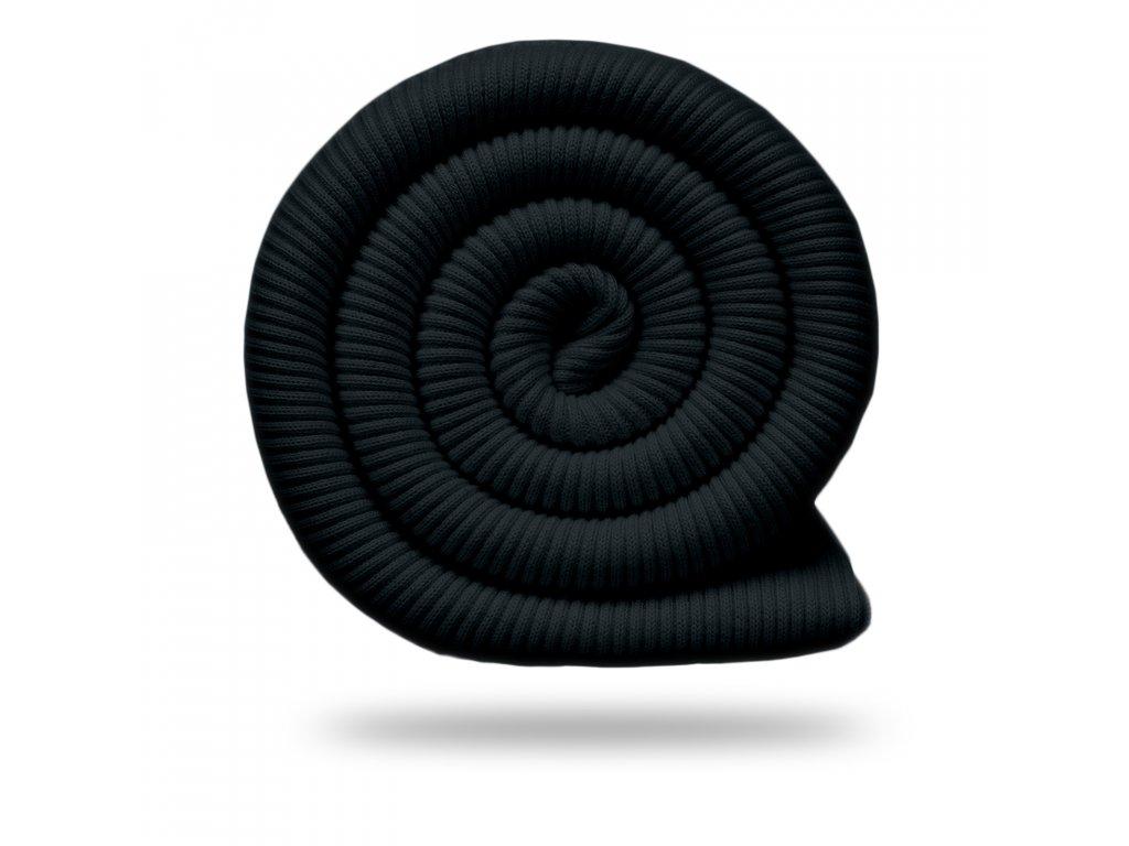 Bavlnený náplet rebrovaný / RIB 430 g, Čierna