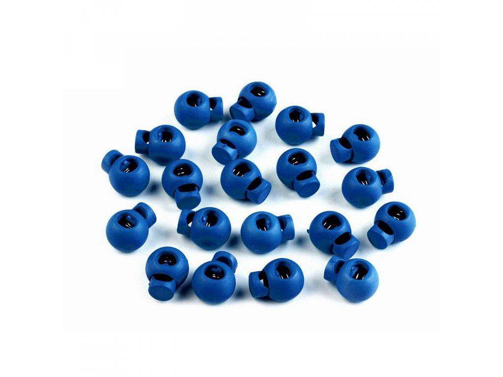 Brzdička guľatá jednocestná, 1,5 x 2,0 cm, Modrá