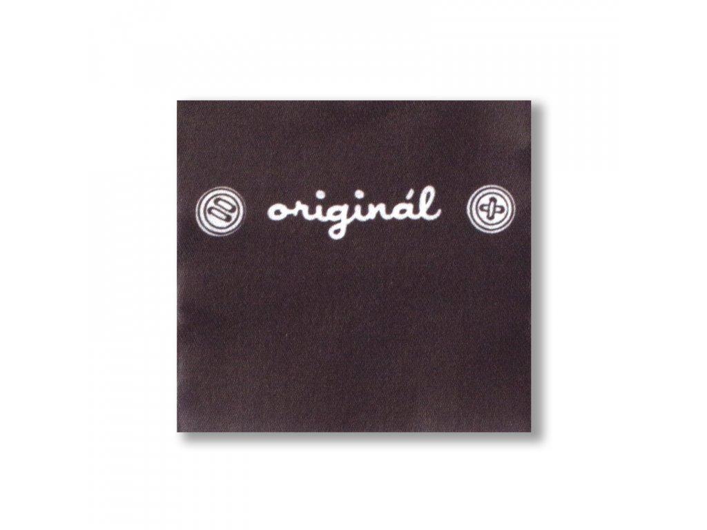 Etiketa Originál, Balenie 10 ks, Tm.hnedá