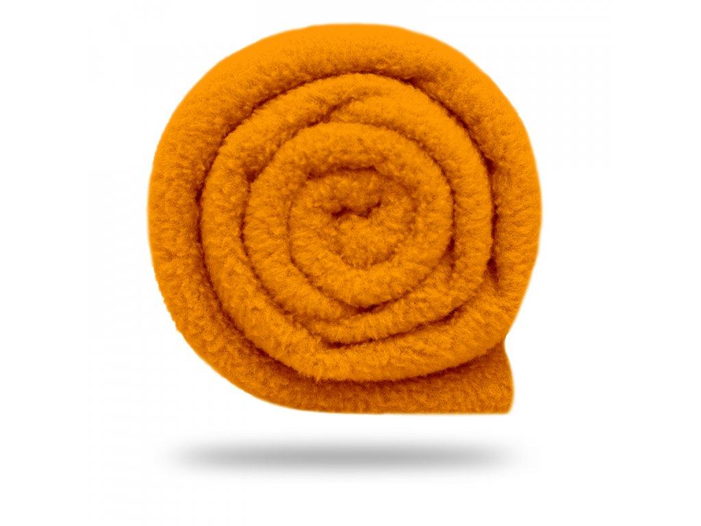 18234 6 fleece antipilling 190 g zariva oranzova