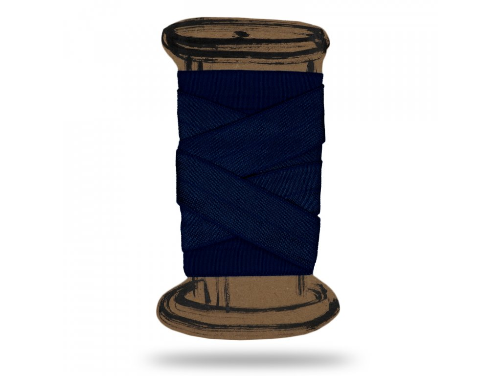 Lesklá lemovacia guma 1,8 cm, Balenie 3 m, Nám.modrá
