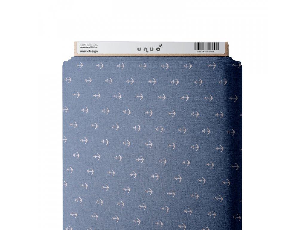 37311 5 muselin bavlneny zdobeny kotvicky sv modra
