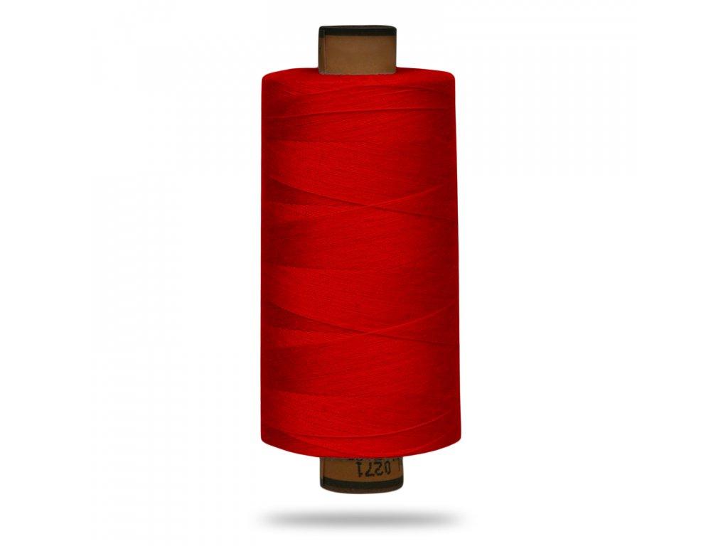 Niť polyesterová Belfil S 1000 m, 0504, Červená Ostrejší