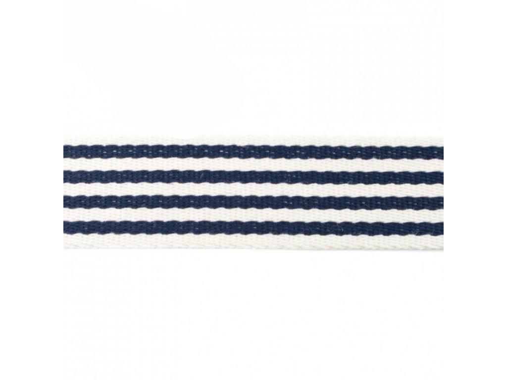 Popruh 4 cm, Pruhy, Tm.modrá