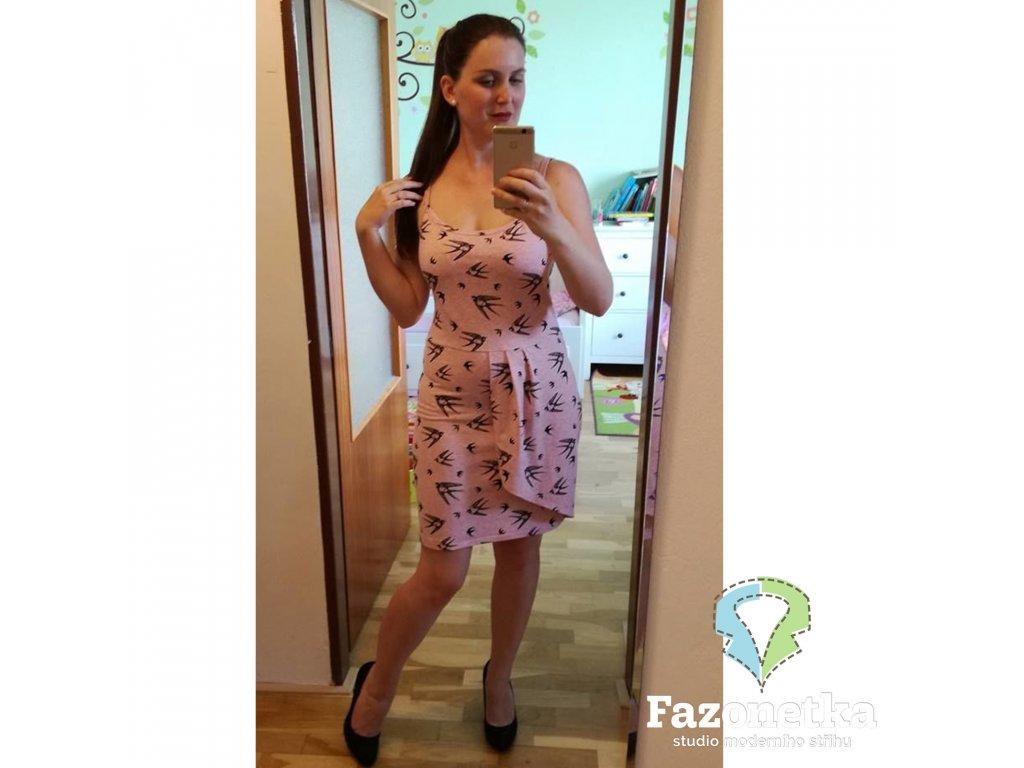 Střih v el. formátu na šaty Anita, Fazonetka 85